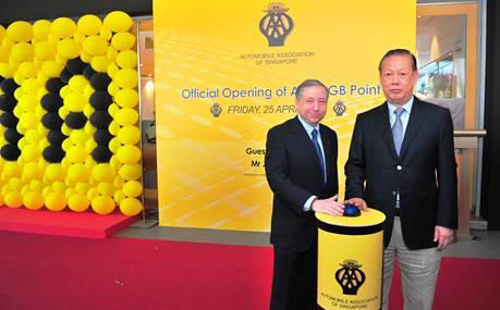 Guest - of - Honour, Mr Jean Todt, President of the Fédération Internationale de  l'Automobile (FIA) at the Official Opening of AA Singapore at GB Point