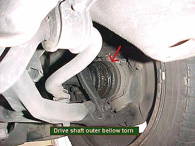 Drive shaft outer bellow torn